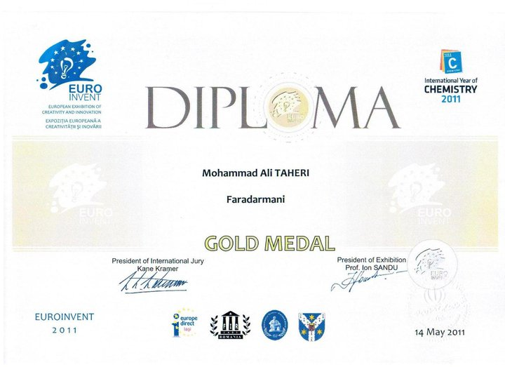 gold-medal-for-faradarmani-euroinvent2011